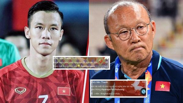 Bức xúc tài khoản giả mạo tung tin đồn thất thiệt về cầu thủ Quế Ngọc Hải và HLV Park Hang Seo