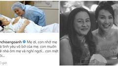 Sang nước ngoài cùng chồng, MC Hoàng Oanh bất ngờ gửi mẹ: 'Con mệt rồi'