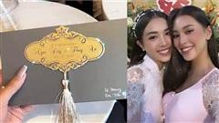 Hé lộ thiệp cưới, thời gian tổ chức hôn lễ ở TP.HCM của Á hậu Thúy An và chồng tiến sĩ