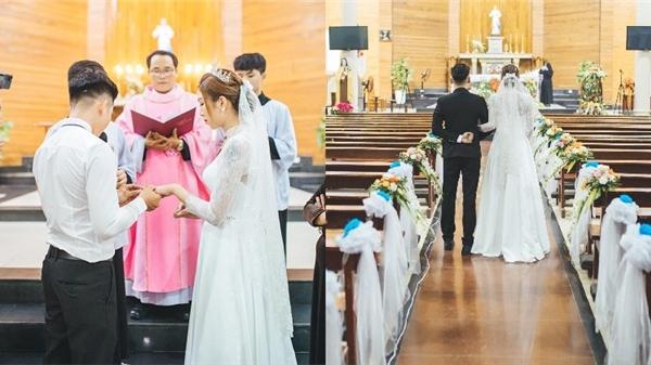 Vẻ đẹp hôn nhân công giáo tái hiện qua bộ ảnh tuyệt đẹp của cặp đôi xứ Nghệ