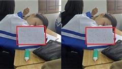 Chết cười với lý do nữ sinh bao biện cho việc ngủ gật trong lớp: 'đang hồi tưởng kiến thức Lý đừng làm phiền'