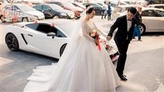 Choáng ngợp với đám cưới của Á khôi Đại học Kinh tế Quốc dân: Chú rể lái siêu xe Lamborghini 19 tỷ rước dâu