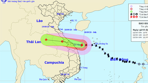 Bão số 5 áp sát các từ tỉnh Quảng Bình đến Quảng Nam, ở đảo Lý Sơn gió giật cấp 9