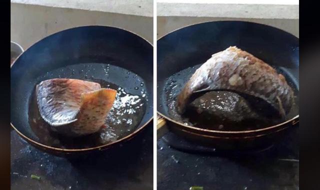 Món cá rán cách dầu, chiên mà như không chiên, chiên mà ăn vị như hấp. (Nguồn ảnh : Duc Tran)