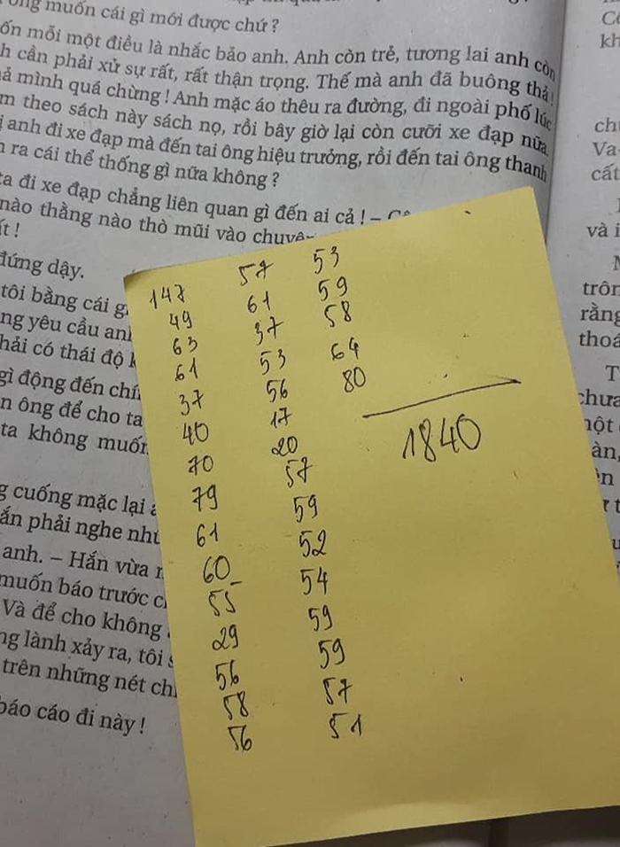 Có 1840 chữ trong trang sách này!