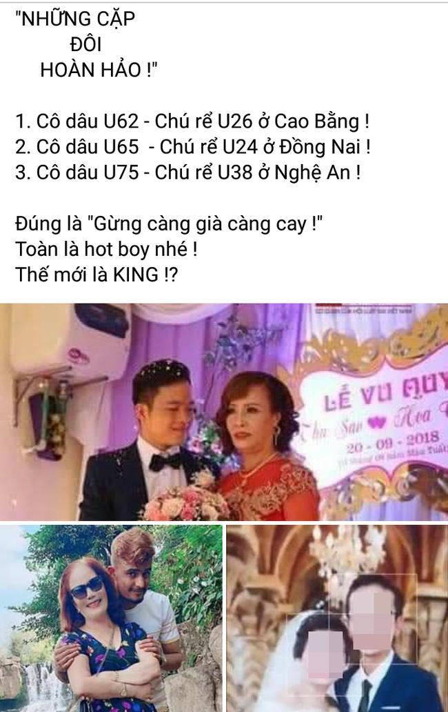 Bài đăng lần nữa nhắc đến cặp đôi chênh tuổi ở Nghệ An.