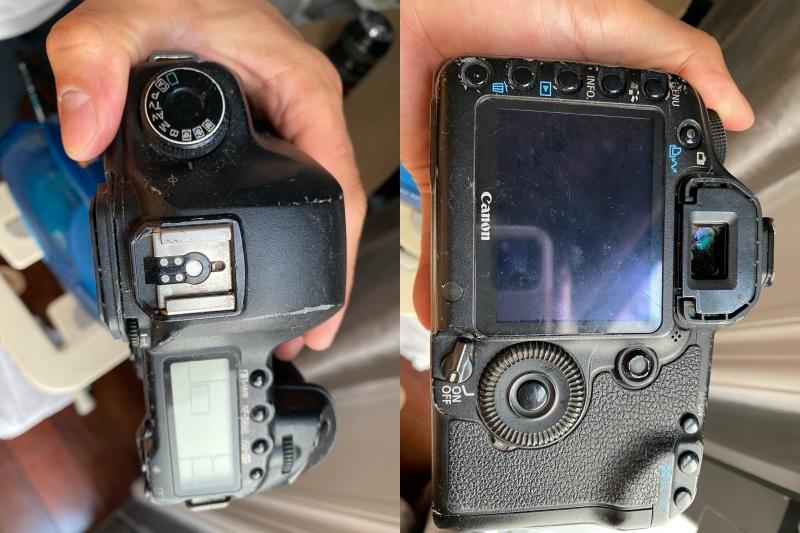 Hình ảnh chiếc máy ảnh bị đánh tráo.