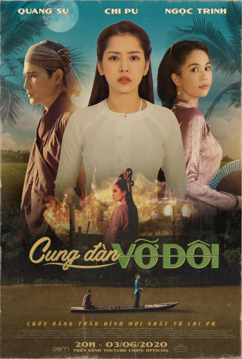 MV Cung đàn vỡ đôi còn có sự tham gia của diễn viên Quang Sự, diễn viên - người mẫu Ngọc Trinh và 'cameo' nghệ sĩ cải lương Thanh Sơn - cố vấn nghệ thuật của MV.