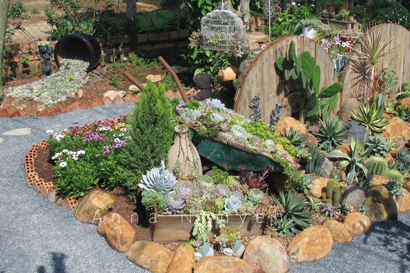 Mê mẩn với khu vườn ngập sắc hoa được tạo từ đống đồ ve chai của bà mẹ 8X Lâm Đồng 0