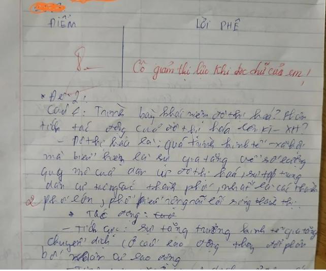 Chữ viết 'nằm phơi nắng' của học sinh cấp 2 khiến ai nhìn cũng phải 'rối loạn tiền đình' 1
