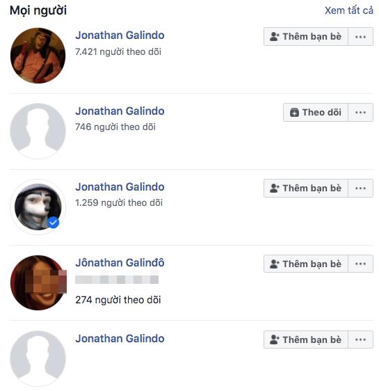 Nhiều người tin rằng, tài khoản nào nhiều follow nhất chính là tài khoản thật củaJonathan Galindo.