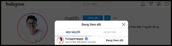 Matt Liu nhập hội 'chỉ follow mình em'