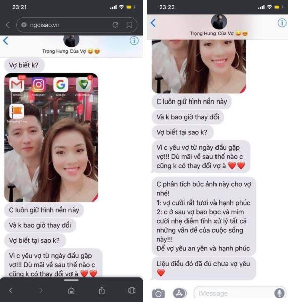 Loạt tin nhắn ngọt ngào, sến sẩm của Trọng Hưng nhắn cho vợ khiến ai đọc xong cũng phải 'nổi da gà'.