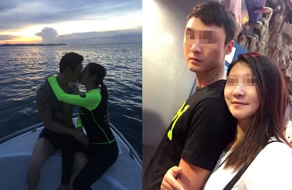 Cặp vợ chồng thể hiện tình cảmmặn nồng trước khi bi kịch xảy ra.