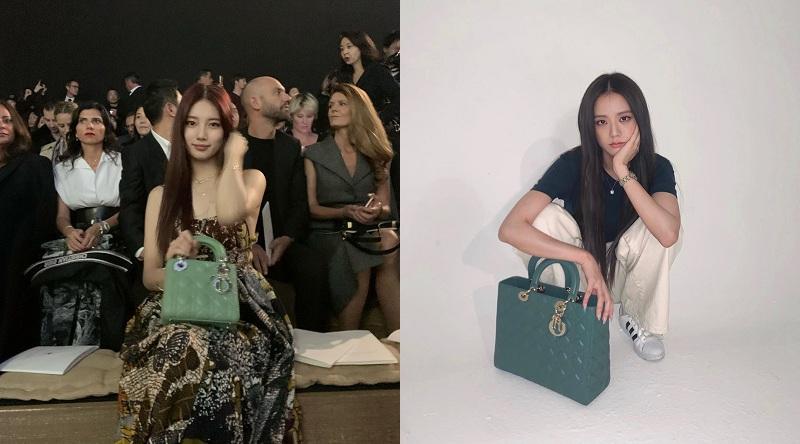 Bên cạnh trang phục, hai gương mặt đại diện Dior của Hàn Quốc cũng không ít lần đụng độ với những chiếc túi xách cao cấp. Có lẽ, nhờ nét thanh tú, mỏng manh và thần thái lôi cuốn, bộ đôi nữ idol Kpop chẳng ngần ngại bất kỳ vụ diện đồ đôi, mà ngược lại, hứa hẹn còn nhiều màn đụng hàng 'nảy lửa'giữa Suzy và Jisoo.