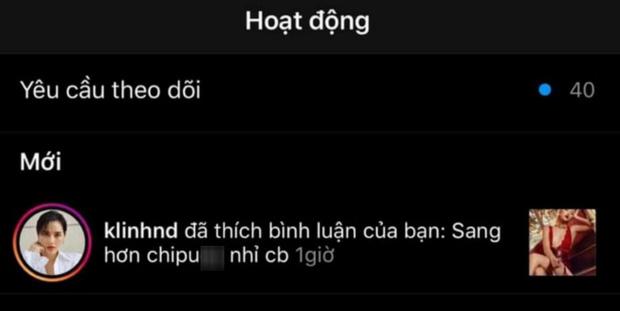 Khánh Linh nhấn 'thích' bình luận của tài khoản này
