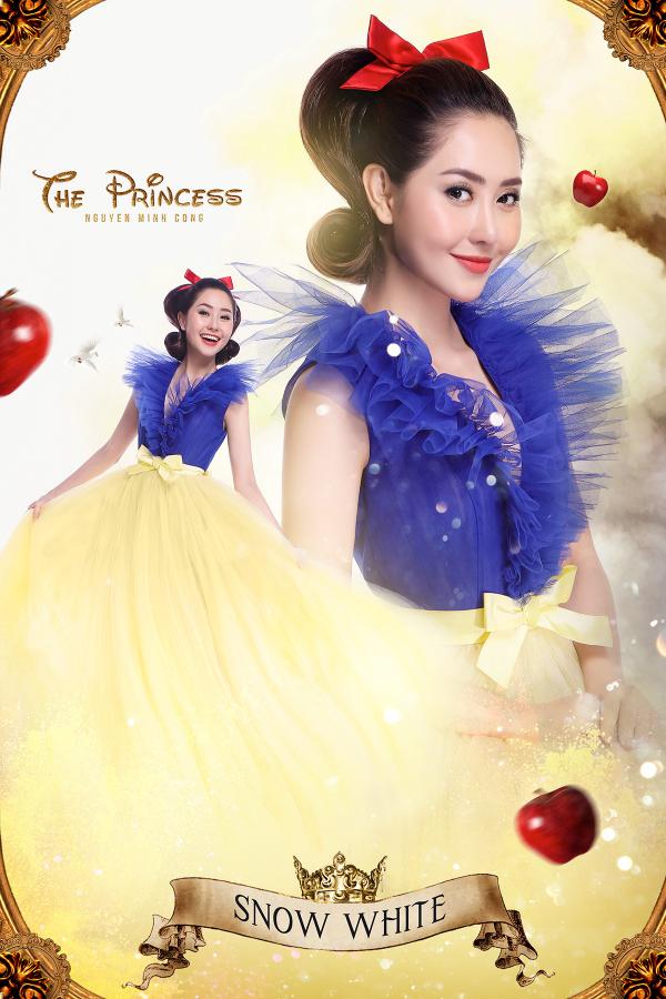 Tường Vi – nữ diễn viên có hình ảnh ngọt ngào, dịu dàng, nữ tính sẽ hóa thân thành nàng công chúa Bạch Tuyết với một phong cách vừa cổ điển, vừa hiền lành.