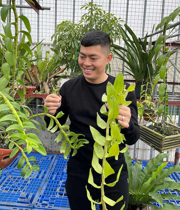 Đỗ Ngọc Hà: Trở thành tỷ phú trẻ nhờ trồng và kinh doanh lan phi điệp quý hiếm 3