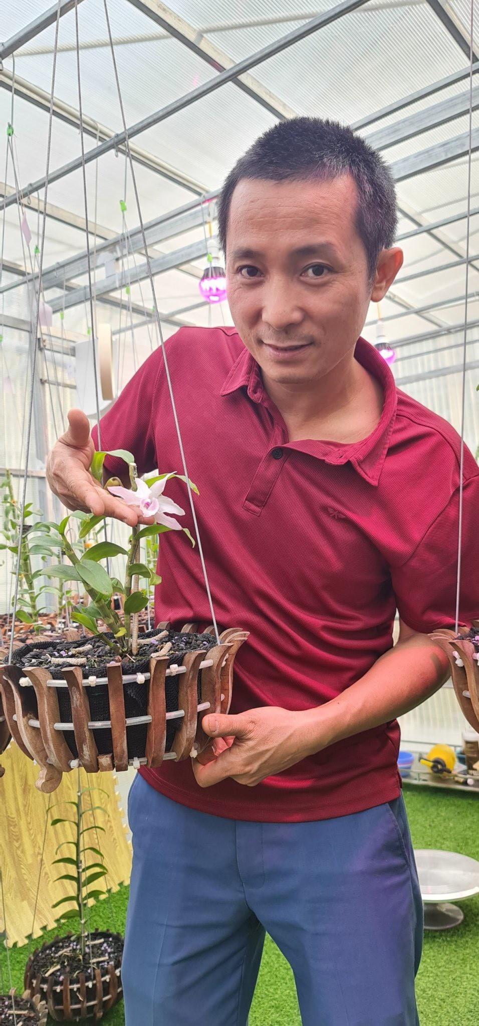 Dũng Công Tử tìm kiếm thành công với nghề trồng lan.