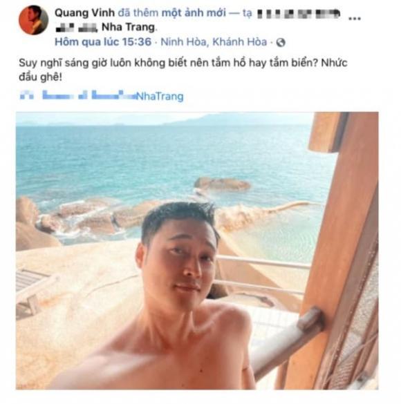 Quang Vinh và tình tin đồn bị phát hiện check in cùng địa điểm