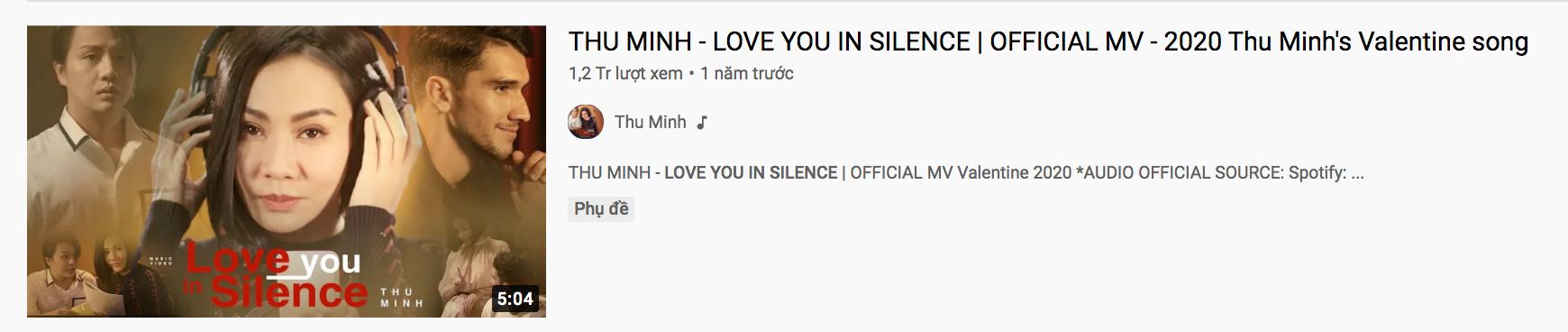 MV được Thu Minh đăng tải cách đây hơn 1 năm