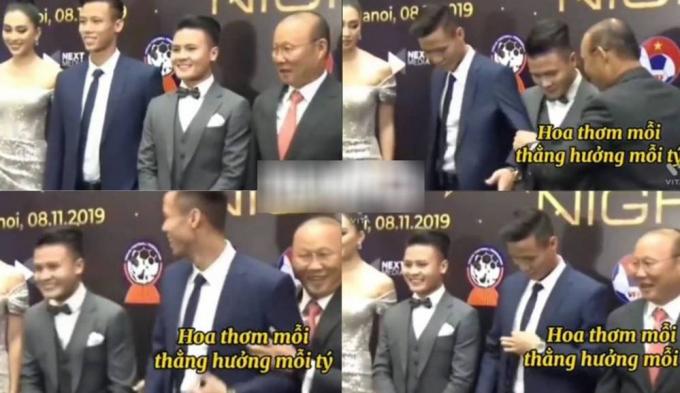 Thầy Park khátinh ý với các học trò của mình.