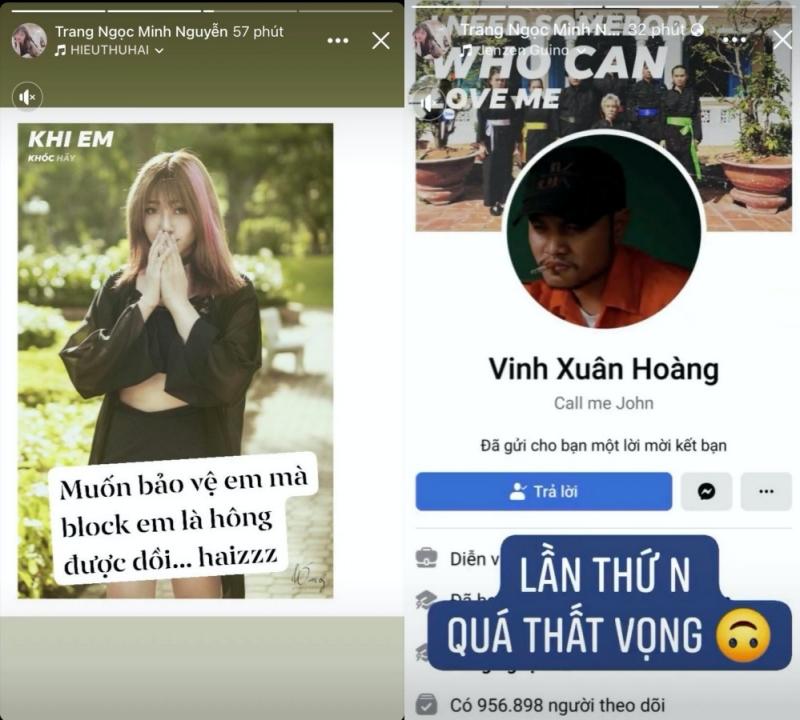 Sau 'liên hoàn story', Vinh Râu tiếp tục 'chặn' Facebook và số điện thoại Lương Minh Trang, Huỳnh Phương giải đáp nghi vấn 'cà khịa' 0