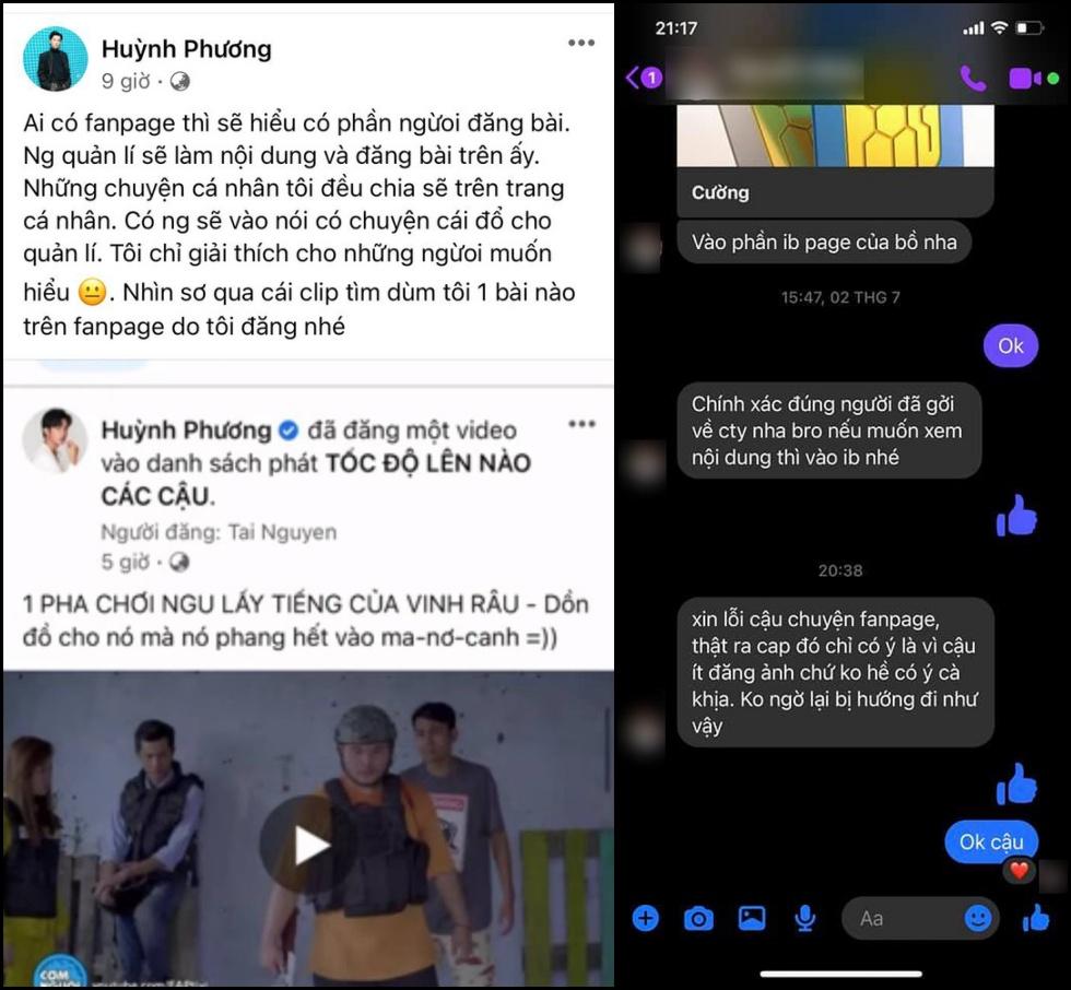 Giải thích của Huỳnh Phương về bài đăng 'cà khịa' Lương Minh Trang.