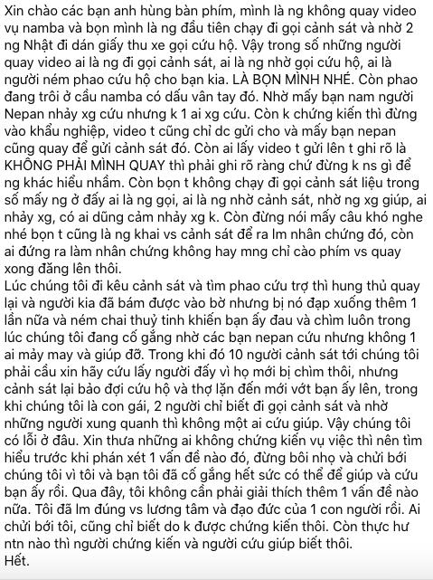 H.J lên tiếng thanh minh trong một hội nhóm người Việt ở Nhật Bản