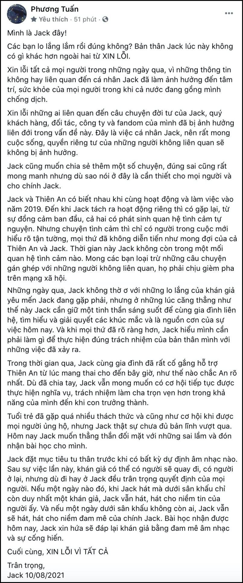 Nguyên văn bài đăng của Jack.