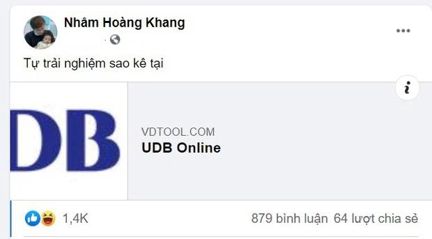 Nhâm Hoàng Khang đăng tải một đường link để mọi người cùng 'tựtrải nghiệm sao kê'.