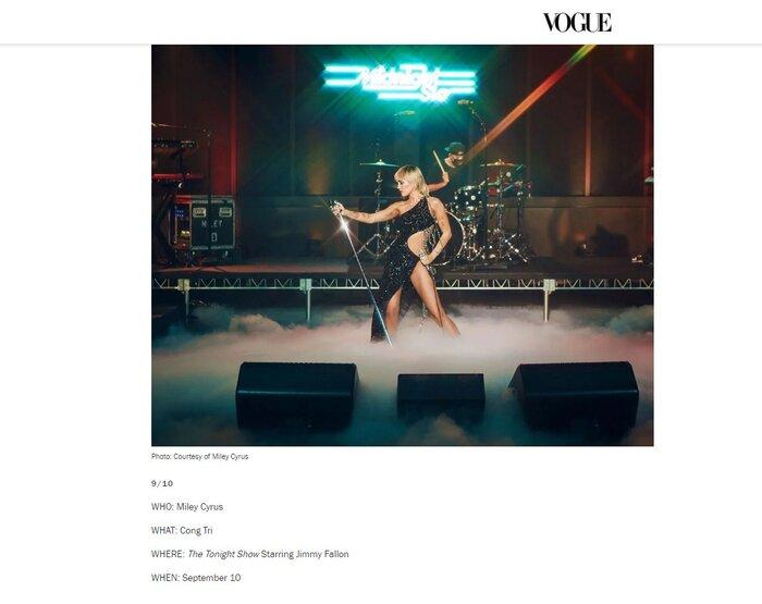 Thiết kế váy của Công Trí nằm trong top 8/10 do tạp chí Vogue bình chọn công bố với các độc giả và các tín đồ.