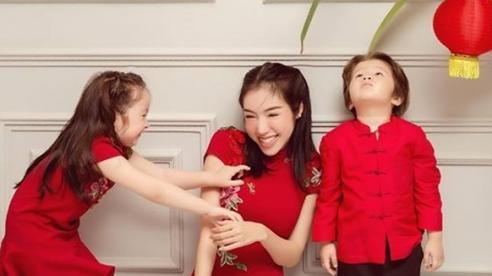 Elly Trần khiến fan 'rung rinh tim' khi khoe ảnh chụp cùng 2 nhóc tì nhân dịp Trung Thu
