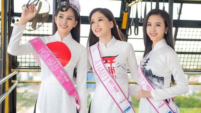 Top 3 Hoa hậu Việt Nam thướt tha áo dài trong Lễ hội Mặt Trời mọc