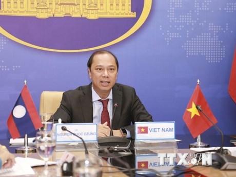 Tham khảo Chính trị Việt Nam-Lào lần thứ 5 theo hình thức trực tuyến