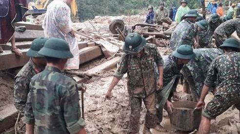 Sạt lở ở Trà Leng: Nỗ lực tìm kiếm nạn nhân trước khi bão số 10 tràn vào
