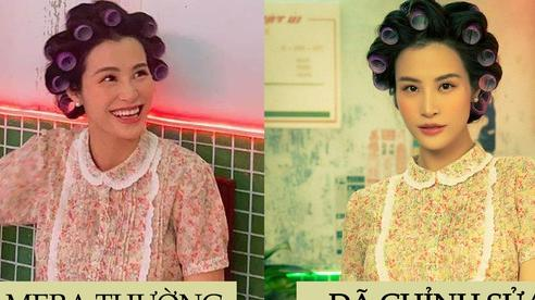 Ảnh camera thường và đã chỉnh sửa của mẹ bầu Đông Nhi khi ăn mặc lôi thôi 'đòi nợ': Liệu có còn xinh đẹp bất chấp?