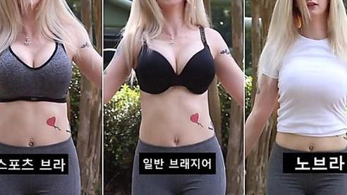 Làm thí nghiệm 'rung lắc' vòng một với 3 loại áo xem phương án nào hại ngực hơn, nữ Youtuber khiến người xem bất ngờ khi biết kết quả
