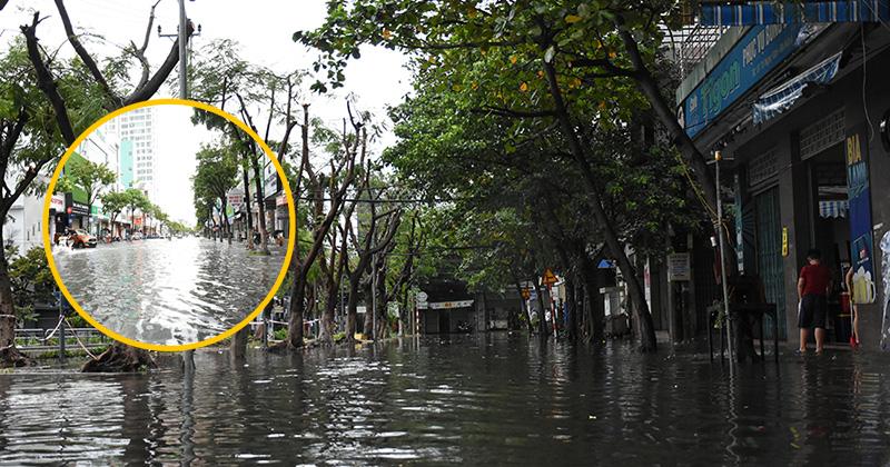 'Từ 3h khuya, mưa to gió lớn khiến nước dâng vào nhà, nhiều người phải dắt bộ vì xe chết máy'