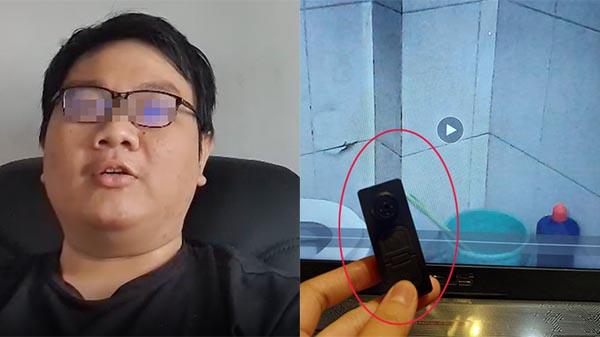 Nạn nhân tiết lộ thủ đoạn quay lén tinh vi của đồng nghiệp nam trong nhà vệ sinh: Camera hình cúc áo, đặt trong chiếc cốc trong suốt