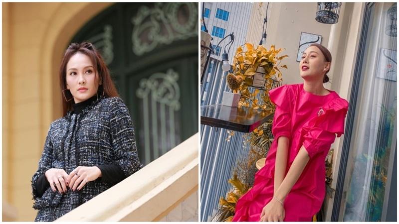 Street style của dàn diễn viên VTV: Linh và Tuệ Lâm cùng đồng điệu chọn váy dáng dài, Phương Oanh độc thân vui vẻ diện váy màu chóe