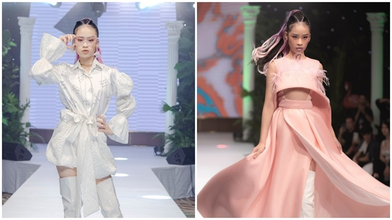 Mẫu nhí Bảo Hà catwalk chuyên nghiệp tại show thời trang của NTK Ivan Trần