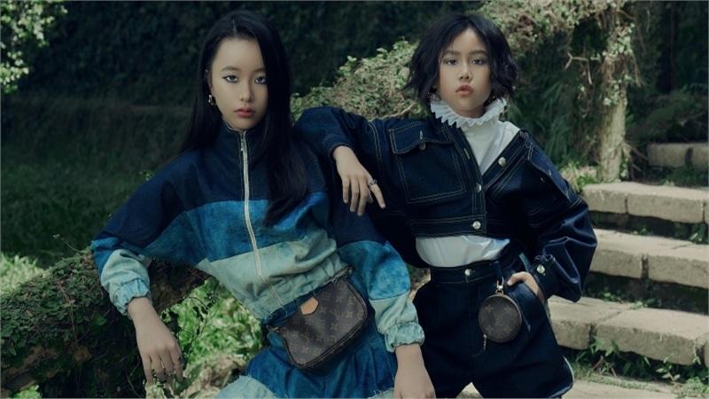 Bộ đôi mẫu nhí Khánh An - Phương Anh bị 'tố' lén lấy thiết kế trong BST mới của NTK Ivan Trần