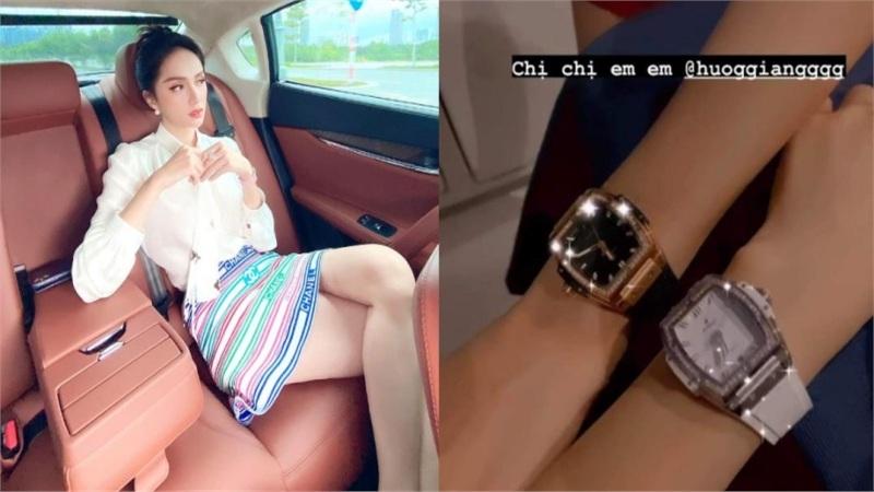 Hương Giang, Hòa Minzy xứng danh chị em giàu sụ, cùng nhau sắm đồng hồ kim cương giá hơn nửa tỷ