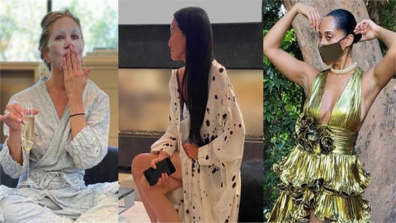 Thảm đỏ đặc biệt nhất trong lịch sử Emmy Awards: Jennifer Aniston đắp mặt nạ mặc pijama, NTK Vera Wang khoe chân nuột nà tại nhà