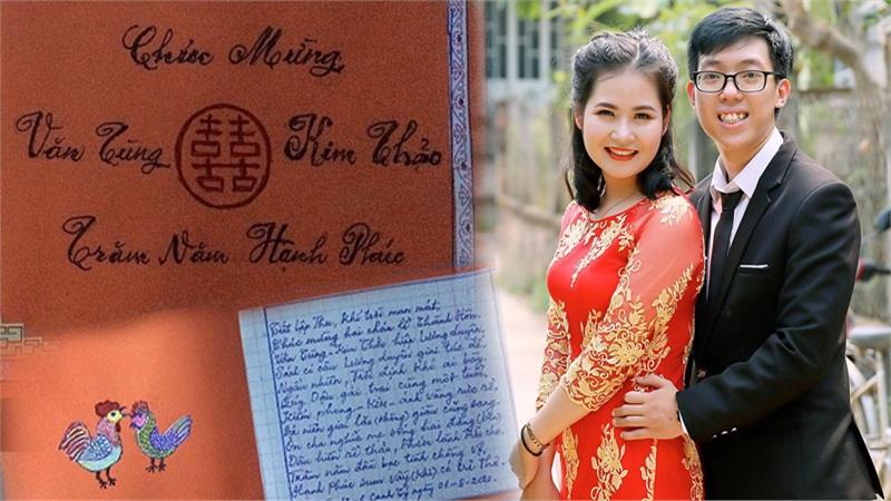 Cụ ông gần 90 tuổi ở Đà Nẵng tự tay làm thiệp cưới tặng cháu dâu: 'Ý nghĩa lớn hơn triệu món quà khác!'