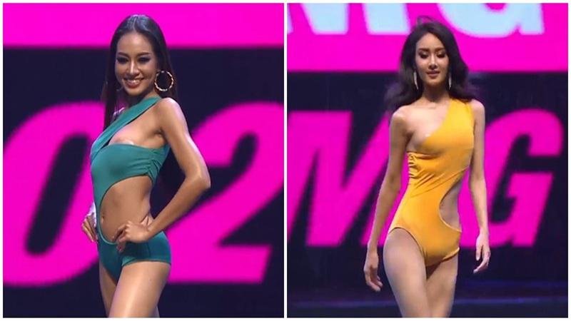 Thí sinh Miss Grand Thái Lan hớ hênh trong phần thi áo tắm