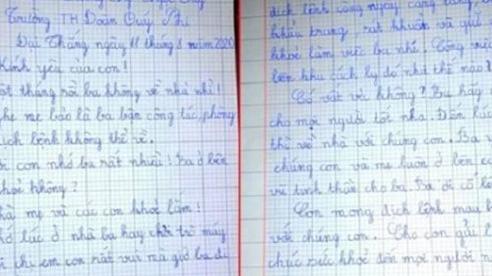 Bức thư xúc động của cô bé lớp 3 gửi cha nơi tuyến đầu chống dịch