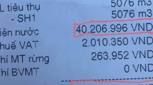 Ghi nhầm hóa đơn tiền nước 42 triệu: 'Không cố tình'