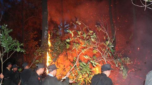 Rừng thông cháy rực ngày nắng nóng, trăm chiến sỹ dập lửa